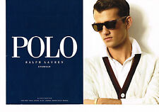 PUBLICITE ADVERTISING 025  2008  RALPH LAUREN POLO  collection lunettes( 2p)