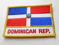 DOMINICAN REPUBLIC INTERNATIONAL COUNTRY WORLD FLAG EMBROIDERED PATCH 2.5 X 3.5