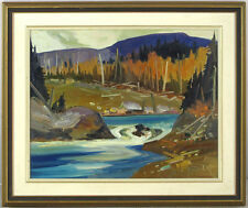 Louis Tremblay  (b1949)Canadian Listed Vintage Original Oil/Panel Quebec Autumn