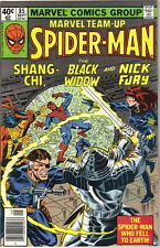 Marvel Team-Up Comic Book #85 Spider-Man Shang-Chi Widow Fury, 1979 FINE+