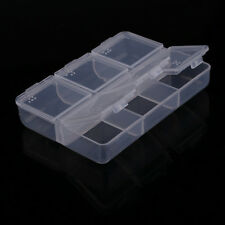 New Clear Plastic Jewelry Box With 6 Cell Small Pill Storage Container Organizer