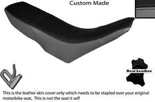 GREY & BLACK CUSTOM FITS GILERA GSM 50 DUAL LEATHER SEAT COVER ONLY
