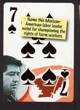 Cesar Chaves Mexican American Labor Leader Neat Playing Card #0Y6S