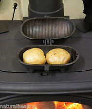Cast Iron BAKED POTATO COOKER use on Woodburning Multifuel Stoves, in Open Fires