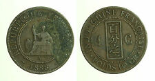 pcc1248_9) 1888 A French Indo-China Cent KM# 1