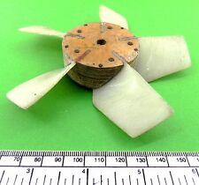 Fan impeller 5 bladed 125 mm diameter.5 mm bore hub - home made
