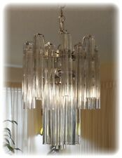 VERY RARE AND UNIQUE VINTAGE 1960's  MURANO GLASS VENINI ITALIAN CHANDELIER