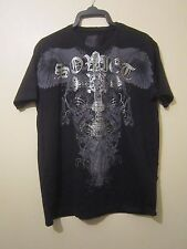 Soviet Black:Men's Silver & Black The Prayer Studded T Shirt: Size XXL: Free P&P