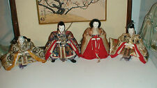 ANTIQUE JAPANESE HINA IMPERIAL COURT EMPRES DOLLS WITH GOFUN FACES