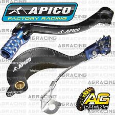 Apico Black Blue Rear Brake & Gear Pedal Lever For Yamaha YZ 250F 2009 Motocross