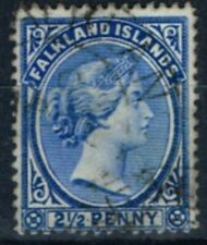 Falkland Is 1901 2 1/2d Dp Ultramarine SG30c Fine Used