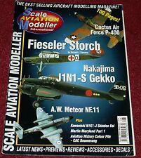 Scale Aviation Modeller 7.8 Fieseler Storch,J1N1,N1K1,CAC Boomerang,Meteor,Tu16