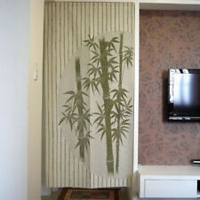 Classical Green Bamboo Pattern Hanging Door Curtain Room Divider Japanese Noren