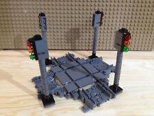 Lego® 1 x Kreuzung mit Schienen & Singnalen NEU 7938 7939 60051 60052 Ampeln