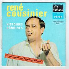 """René COUSINIER Vinyle 45T 7"""" HISTOIRES BONOISES Comique FONTANA 460925 RARE"""