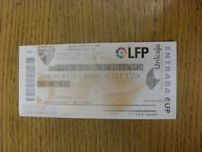 02/09/2005 Ticket: Malaga v Newcastle United [Friendly] (folded). Footy Progs/Bo