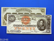 Replica $20 1878 Silver Certificate Note US Paper Money Currency Copy