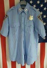 NYPD uniform shirt/chemise, police, size: s, l, xl... New york police Department