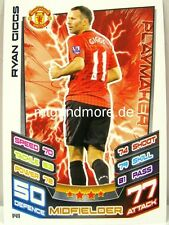 Match Attax 2012/13 Premier League - #141 Ryan Giggs - Manchester United
