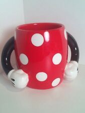 Minnie Mouse 2 Arms Coffee Cup Mug Disney Galerie Collectible Mickey Mouse Red