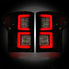 RECON FORD F150 SMOKED LED TAIL LIGHTS 15-17 PART# 264268BK