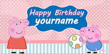 personalized birthday banner 2ftx4ft frozen elsa hello kitty princess peppa pig