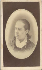 CDV PORTRAIT OF BEAUTIFUL WELL-DRESSED WOMAN - LOCKPORT, NY