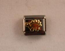 AUTHENTIC Nomination Bracelet DINOSAUR Charm-Stainless Steel w/18k gold
