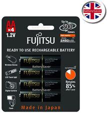 FUJITSU PRO AA ad alta capacità (2450 mAH) NiMh Batteria ricaricabile (confezione da 4)