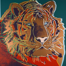 Warhol Andy Endangered Species Tiger Canvas 17 x 17 #5655