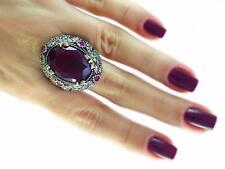 Turkish Traditional Jewelry 925 Silver Handmade Ruby Sultan Ring Size 8 C5