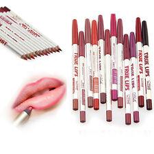 12PZ Set Lotto Colori Professionale Matita per le labbra Impermeabile Trucco