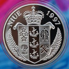 1997 Niue 5 Dollars KM# 173 Silver Proof Queen Mother - Blitz on London 1940
