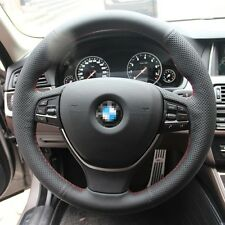 New Anti Slip Black Leather Steering Wheel Stitch on Wrap Cover For BMW 525li 14