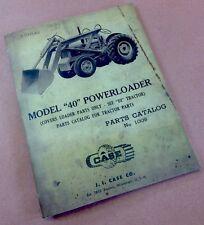 J I CASE MODEL 40 POWERLOADER PARTS CATALOG MANUAL 1009 NEW PRINT LOADER ONLY
