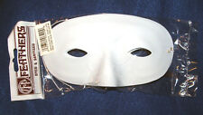 pkg of 3 WHITE Eye Mask Blanks Lightweight Plastic w elastic