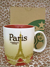 STARBUCKS PARIS FRANCE COLLECTORS EDITION CITY ceramic COFFEE MUG EIFEEL TOWER