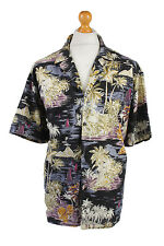 "Vintage Hawaiian Shirt Beach Stag Aloha Summer Multi Chest Size 55""-SH2176"