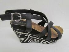 LANE BRYANT TRIBAL PRINT STRAPPY WEDGE sz, 11W