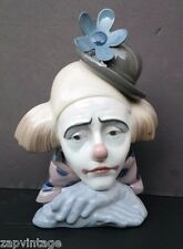 Vtg LLADRO Pensive Porcelain Clown No. 5.130 CABEZA DE PAYASO W/ Original Box