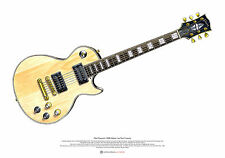 Mick Ronson's 1968 Gibson Les Paul Custom ART POSTER A2 size