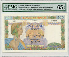 France - 500 Francs 1942 * P95b * Pax * PMG Gem UNC 65EPQ