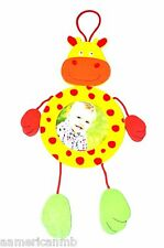Baby Boy Girl Wooden Photo Frame Giraffe Jungle Yellow Red Hang On Wall Picture
