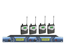 2 channel UHF Wireless In-Ear Monitor System with headphone Big Stage 4 receiver