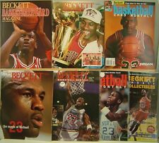 Michael Jordan Lot of 7 Different Beckett Magazines All With Jordan on Cover