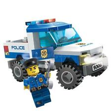 Police and Police Patrol Car, Enlighten Building Blocks Kids Toy Fit
