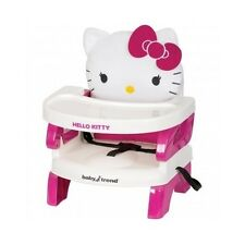 Portable High Chair Booster Seat Girls Pink Hello Kitty Baby Trend Feed Hook On