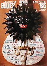 AMERICAN FOLK & BLUES FESTIVAL Konzertplakat von 1985 (Kieser)
