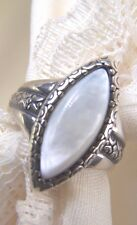 Pollack MOP  Mother of Pearl   925 Sterling Silver Size  9   Excellent!!