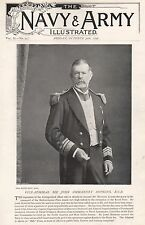 1896 MILITARY PRINT : VICE ADMIRAL SIR JOHN OMMANNEY HOPKINS KCB